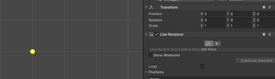 Line Renderer Edit Point in Scene View