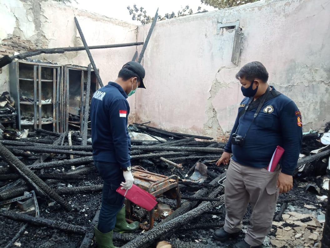 Olah TKP Lanjutan Kebakaran LPTQ, Polresta Palangka Raya Undang Tim Labfor Cabang Surabaya