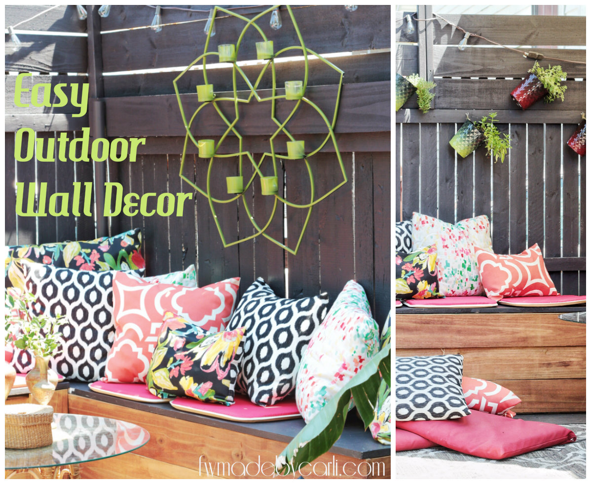 Easy Outdoor Wall Decor