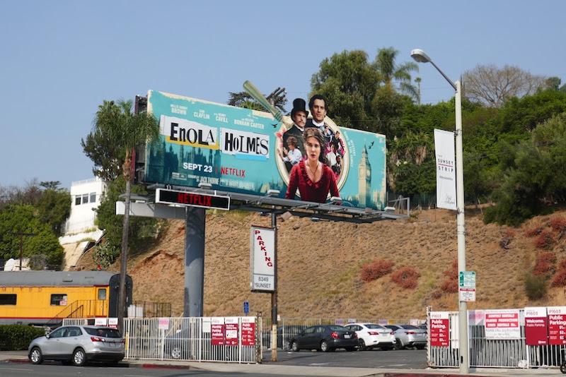 Enola Holmes film billboard