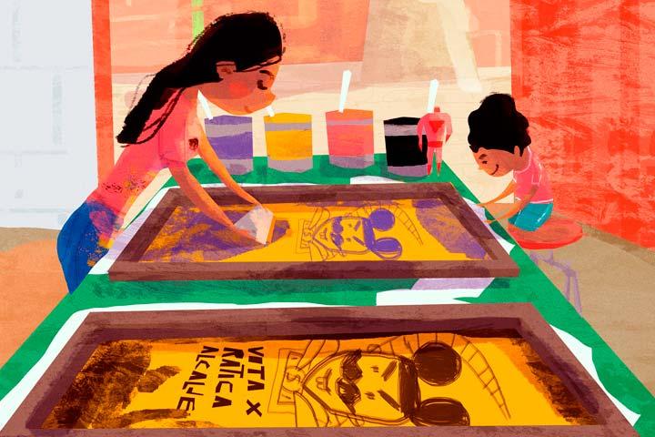 Ilustración, Mamá es un pulpo de Orlando Korzo