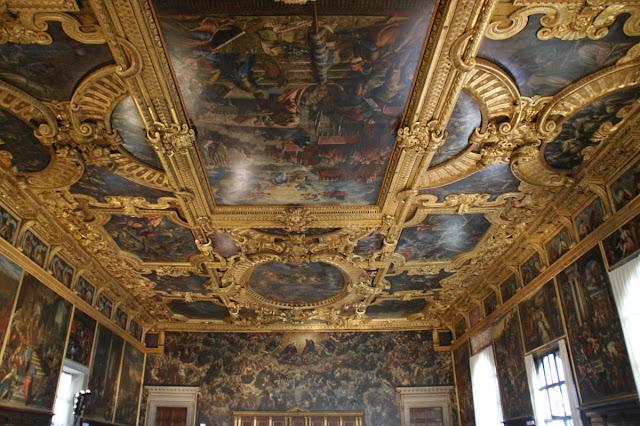 La Sala del Maggior Consiglio di Palazzo Ducale a Venezia