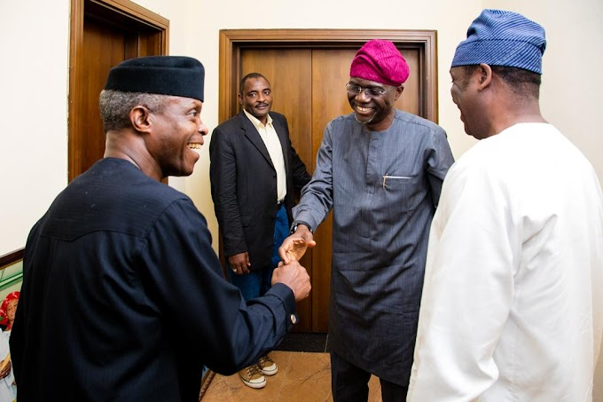 News In Pictures: Osinbajo storms Lagos ahead of APC primary, meets aspirants