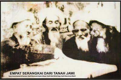 Foto Langka – Empat Ulama Makkah dari Nusantara