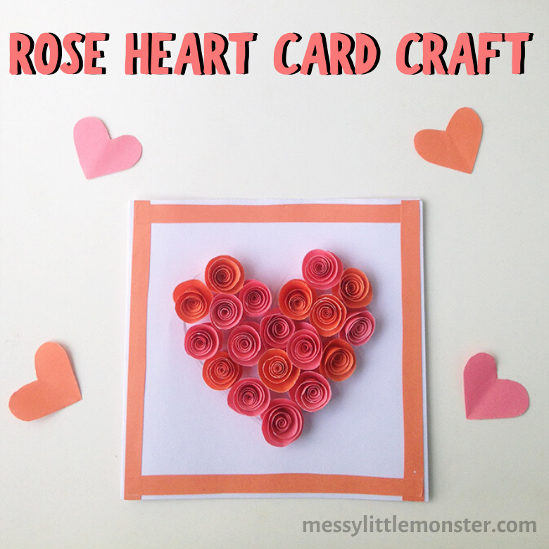 rose heart card craft