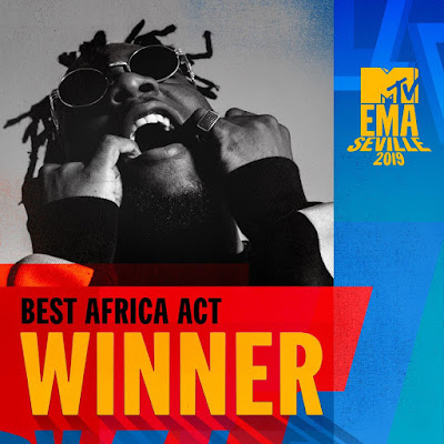 Burna Boy Wins Best Africa Act at the  2019 MTV EMA's