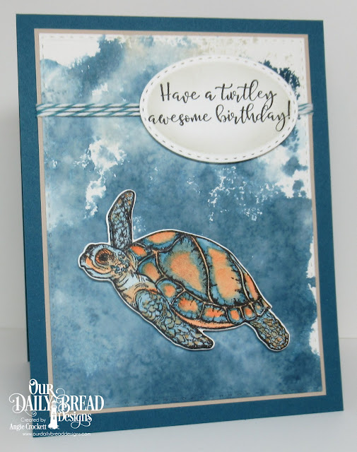 ODBD Turtle Love Stamp/Die Duos, ODBD Custom Double Stitched Rectangles Dies, ODBD Custom Stitched Ovals Dies, Card Designer Angie Crockett