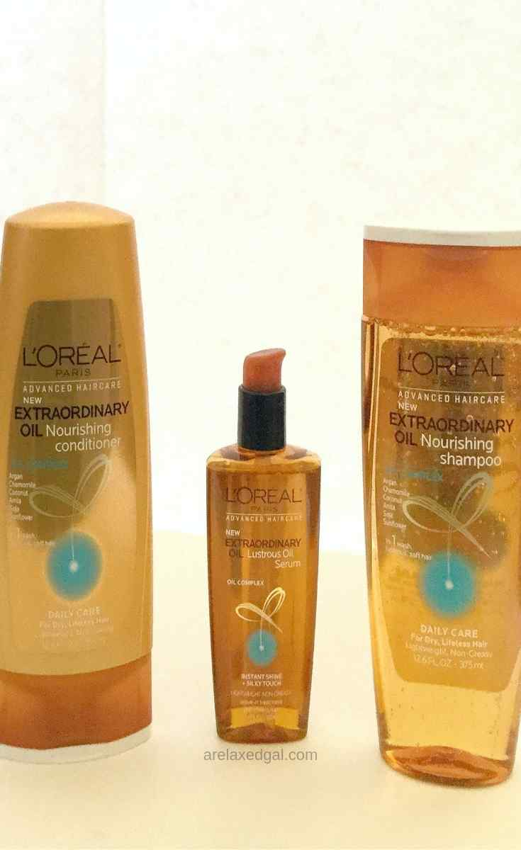 Wash Day With L'Oreal Extraordinary Oil Shampoo System   A Relaxed Gal