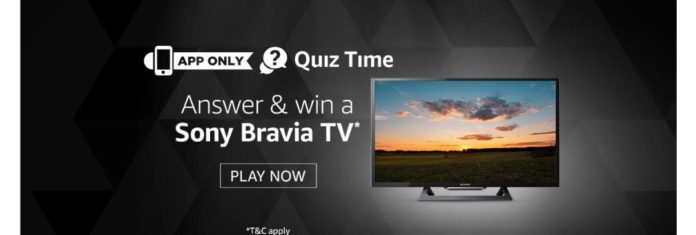 Amazon 2nd August 2019 Quiz Answers – Win Sony LED TV