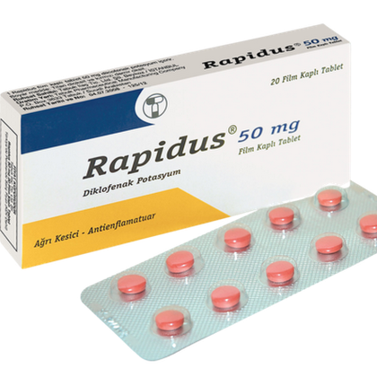 Rapidus 50 mg Tablets - Usage / Indication Dose Side Effects
