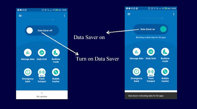 Turn on Data Saver