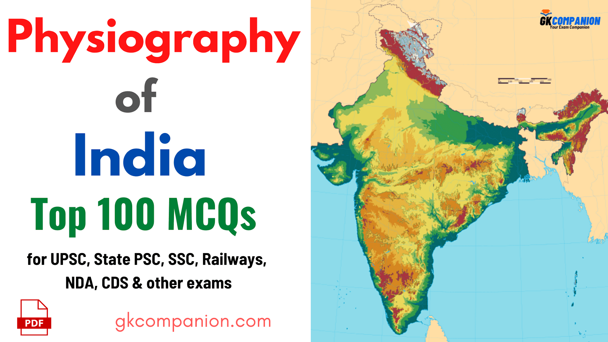 Top 100 MCQs on Physiography of India