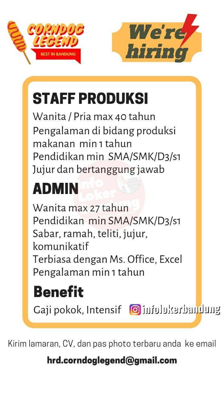 Lowongan Kerja Corndog Legend Bandung Agustus 2019