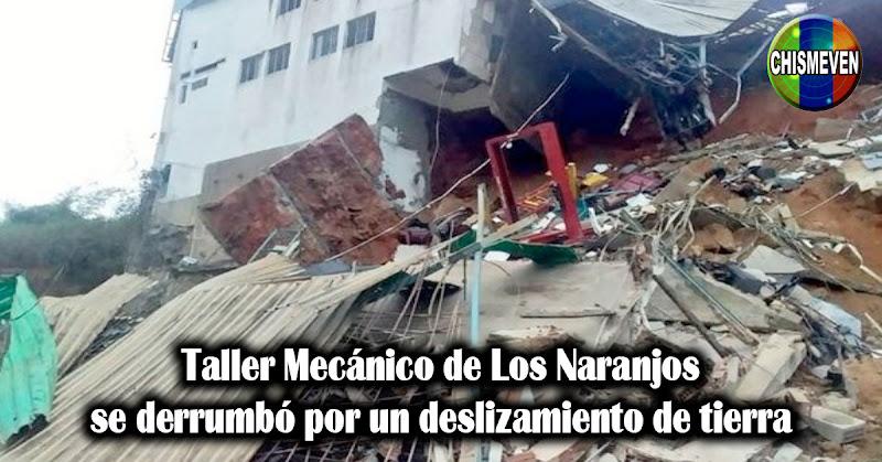 Taller Mecánico de Los Naranjos se derrumbó por un deslizamiento de tierra