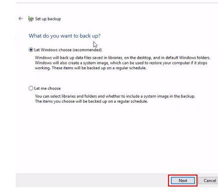 Backup operating system Windows 10