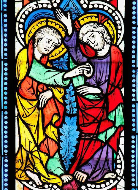São Tomé toca nas chagas de Cristo. Museu The Cloisters, New York. Originário de Carinthia, Áustria.