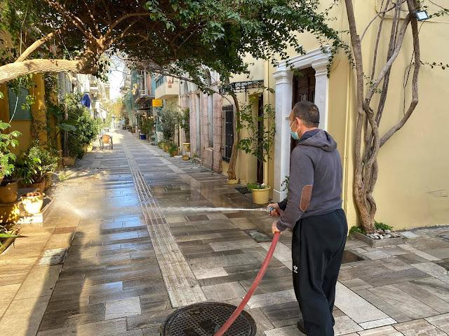 Δήμος Ναυπλιέων: Παρεμβάσεις από το Τμήμα Καθαριότητας και Πρασίνου