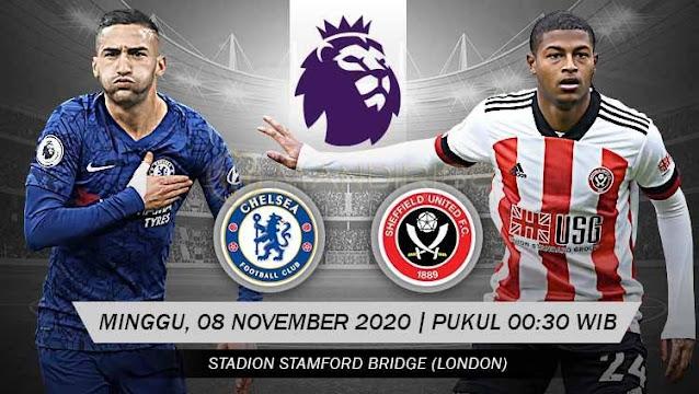 Prediksi Chelsea Vs Sheffield United, Minggu 08 November 2020 Pukul 00.30 WIB @ Mola TV