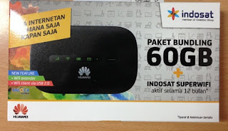 Kartu Perdana Internet Indosat Ooredoo BUNDLING 60 GB + Indosat Super Wifi Setahun