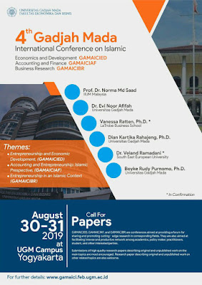 4th Gadjah Mada International Conference on Islamic Economics and Development, Accounting and Finance, and Business Research