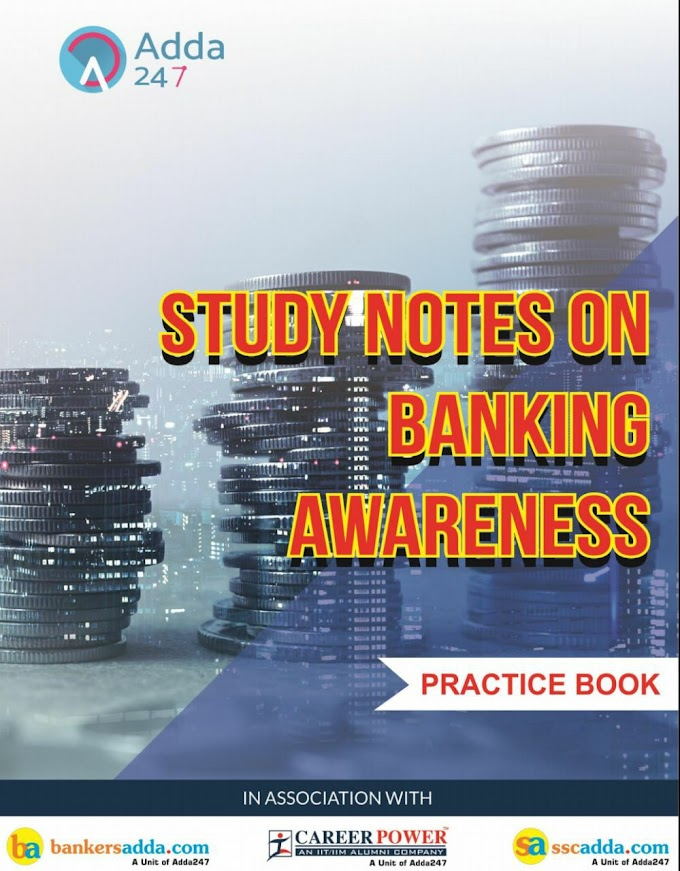 Study Notes on Banking Awareness Pratice Book PDF Download from Adda247