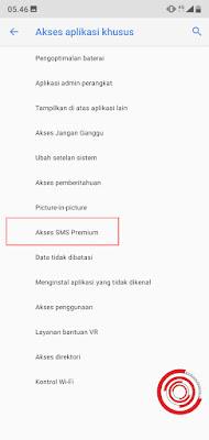 4. Terakhir silakan pilih Akses SMS Premium