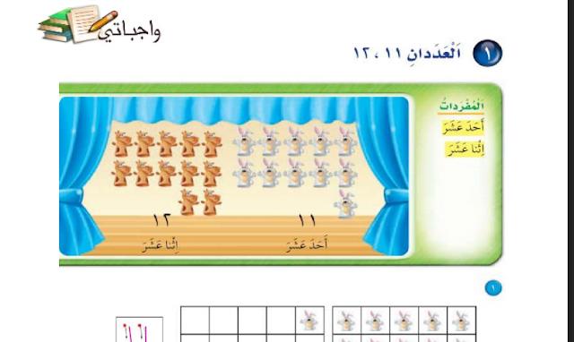 حل درس العددان 12،11 الرياضيات للصف الأول ابتدائي