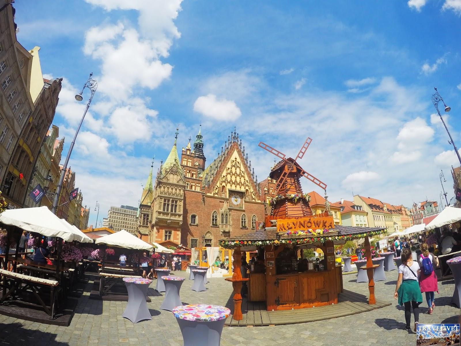 Pologne Wroclaw La place du marché