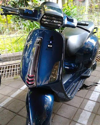 Modifikasi vespa Sprint carbon