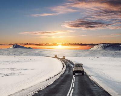 Salida del sol en Islandia