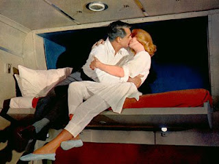 Grant and Saint in upper berth North by Northwest 1959 movieloversreviews.filminspector.com