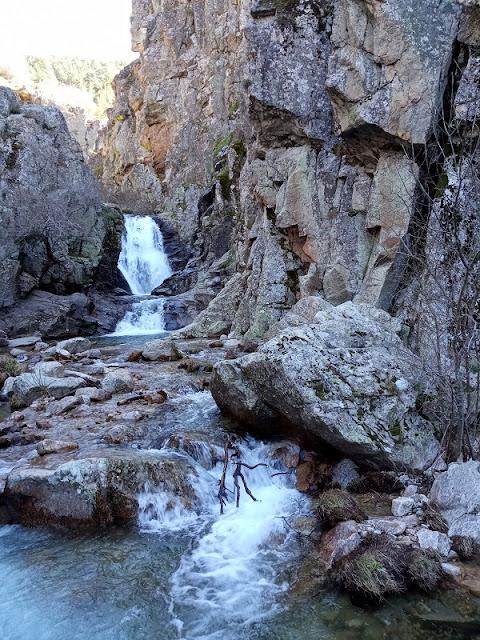 Las Cascadas del Purgatorio sobre el arroyo Aguilón