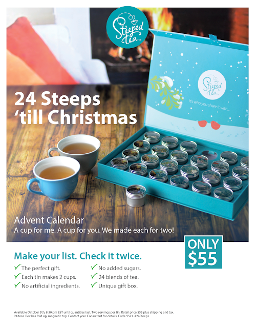 Advent Calendar with 24 tea samples from Steeped Tea. Makes a perfect gift!