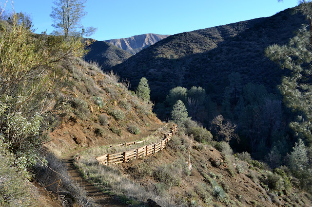 high trail down to Potrero Camp