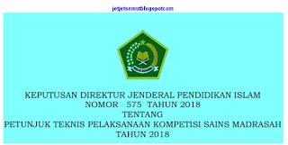 Juknis Kompetisi Sains Madrasah 2018