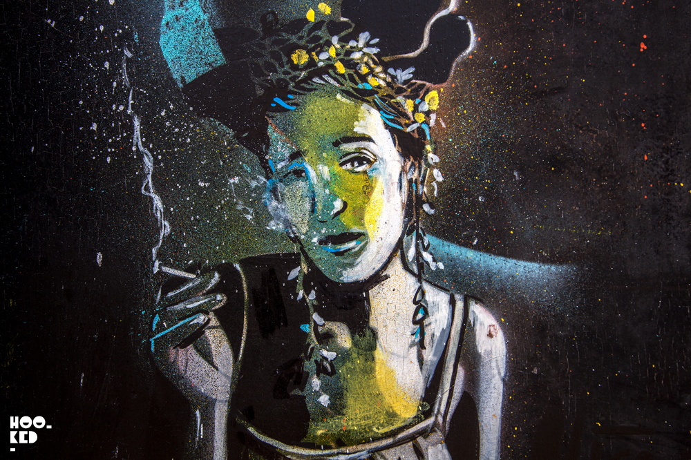 Alice Pasquini, Street Art in Penge, London. Photo ©Hookedblog / Mark Rigney