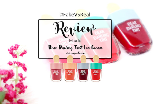 Im Piccha: Review: Etude Dear Darling Tint Ice Cream #FakevsReal