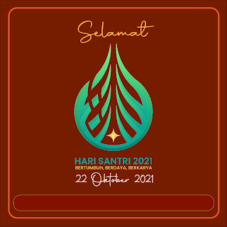 gambar poster hari santri 2021 - kanalmu