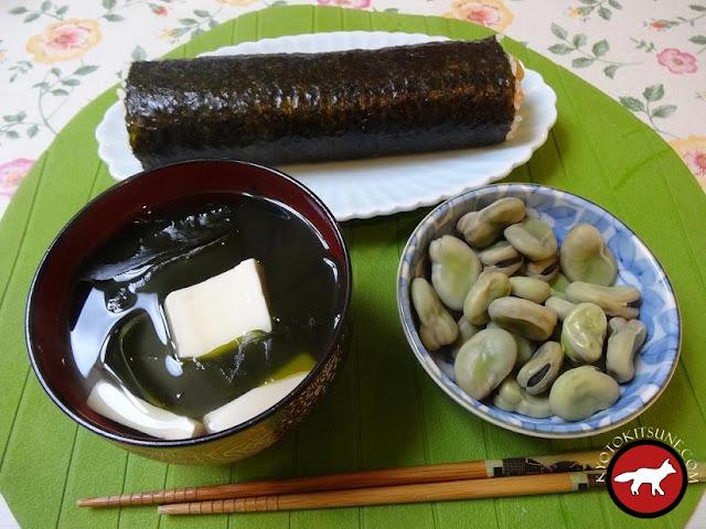 La maki géant que l'on mange au Japon pour fêter setsubun