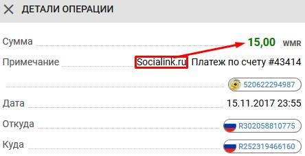 Заработок на соц сетях - выплата socialink