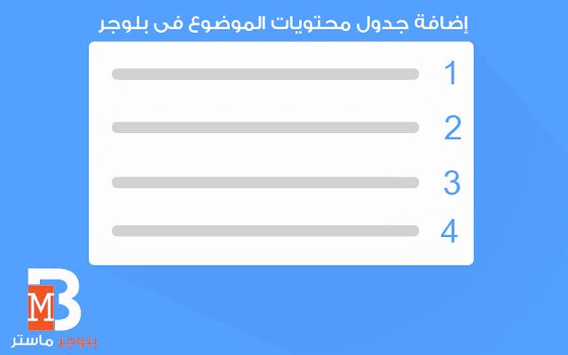 اضافة جدول محتويات التدوينة لمدونات بلوجر