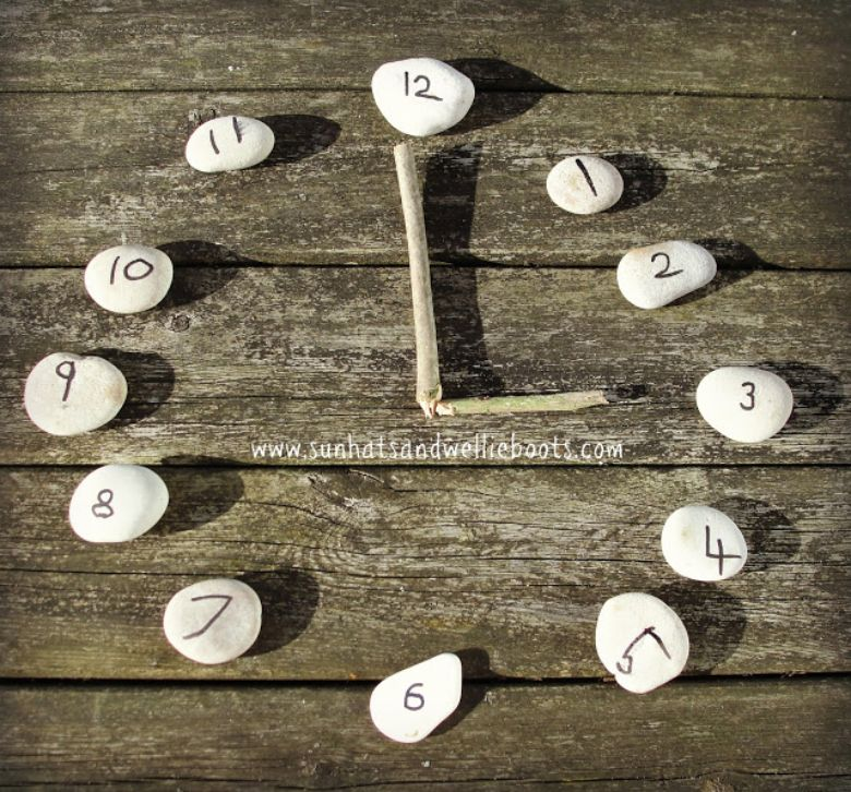 outdoor activities for kids - outdoor rock clock
