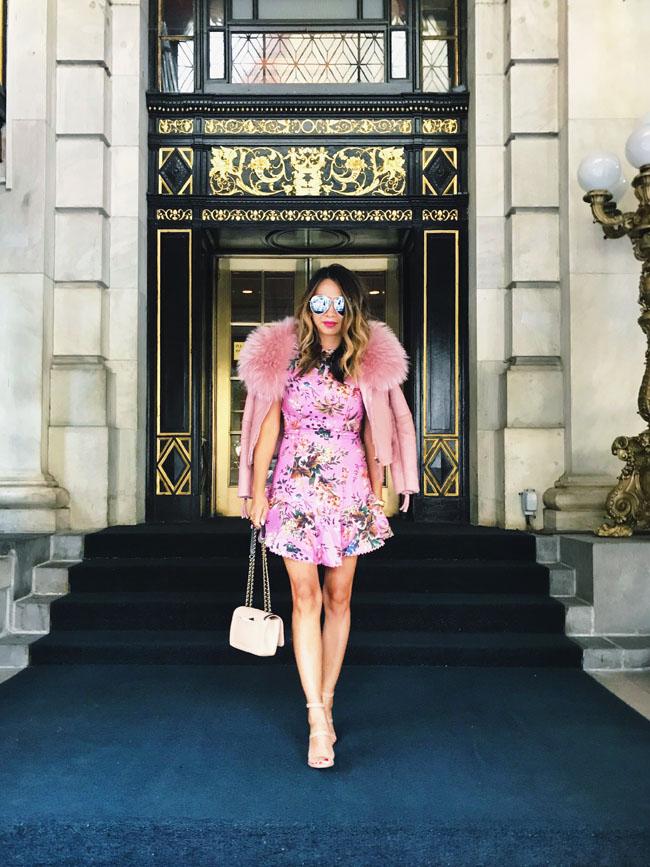Pink Peplum Dress, Fall Pink Dress, Style Steal Pink Dress, What to Wear to Fashion Week