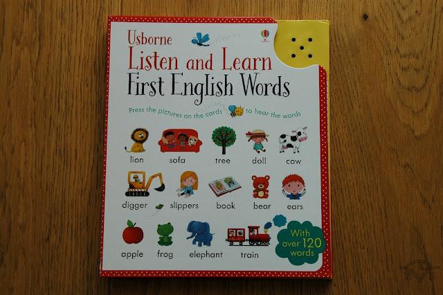 książka do nauki angielskiego dla trzylatka listen and learn first english words