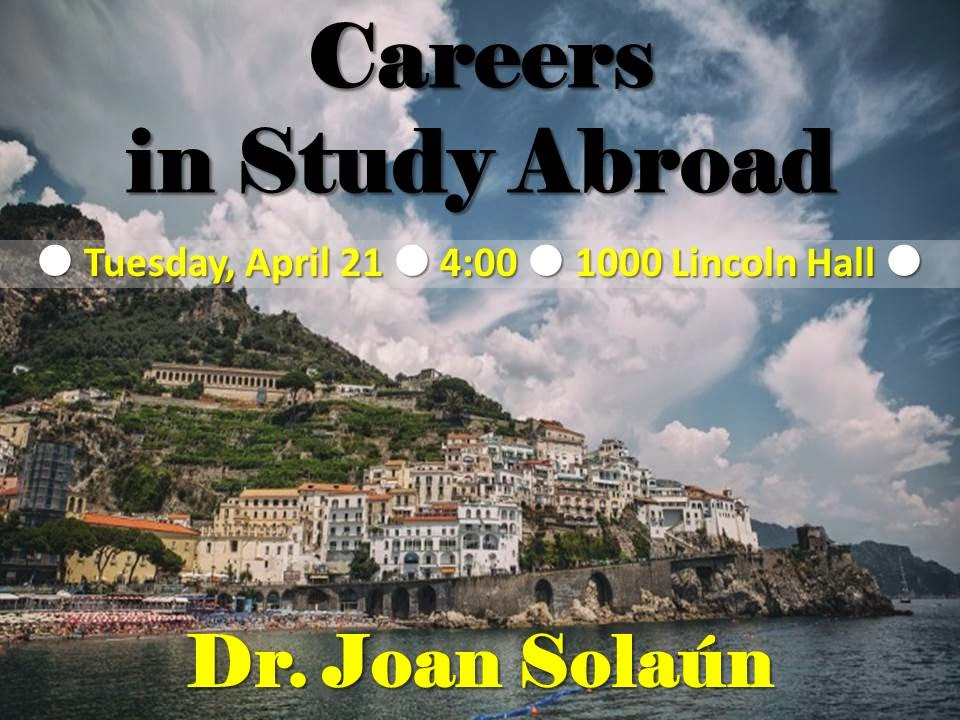 Careers in Study Abroad: Advice from a Pro