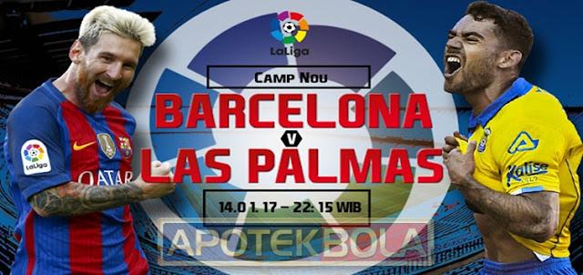 Prediksi Pertandingan Barcelona vs Las Palmas 14 Januari 2017