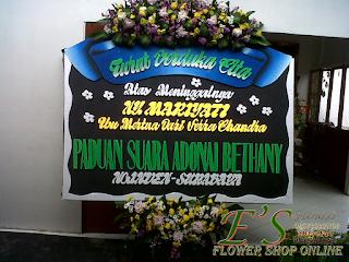 bunga papan duka cita dari paduan suara adonai betany