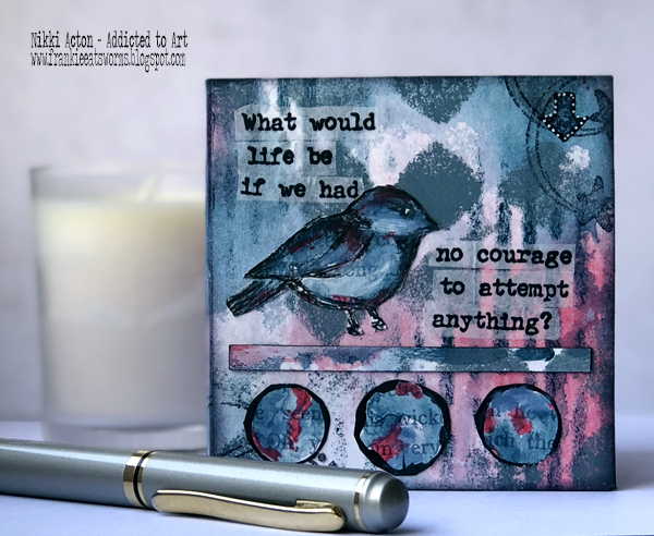 Mini Book with PaperArtsy stamps by Alison Bomber (EAB08) - by Nikki Acton
