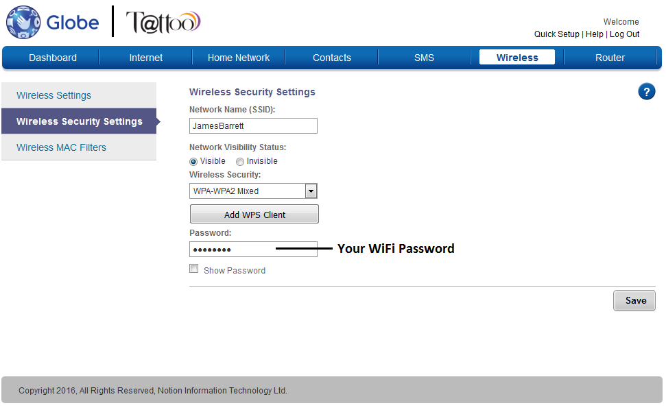 How to Change Globe LTE Pocket WiFi Password (YOUWIN M022