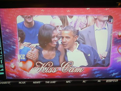 president obama kiss cam